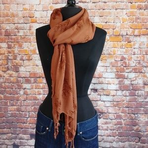 Reckless Resale Accessories - Burnt Orange Pashmina Style Scarf Wrap Head Cover